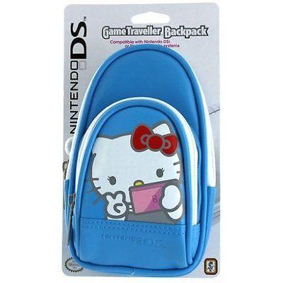Ds Lite Game Traveler - OFFICIAL Nintendo DS-Lite HELLO KITTY Game Traveler Backpack BLUE Case DSi 3DS