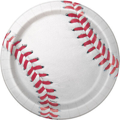 Baseball Paper Plates (BASEBALL SMALL PAPER PLATES (8) ~ Sports Birthday Party Supplies Cake)