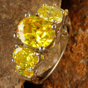 Brilliant-Fascinate-Oval-Cut-Citrine-Gemstones-Silver-Ring-Size-6-Free-Shipping