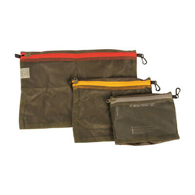 Tiger Mesh (TT Mesh Pocket Set OLIV Tasmanian Tiger Netztaschen in drei Größen )