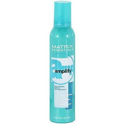 Matrix Amplify Foam Volumizing Mousse, 9 oz (3 Pack) + Makeup Sponge