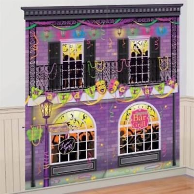 Mardi Gras Party Scene Setters Wall Decoration Kit Supplies New Orleans French (Mardi Gras Supply)
