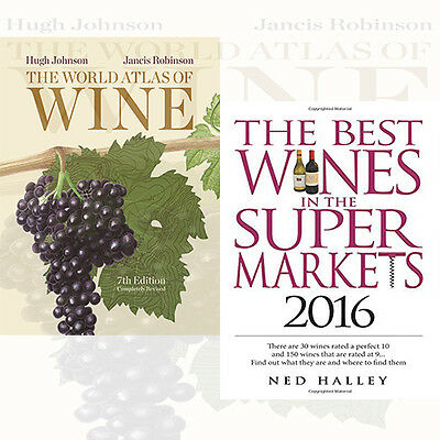 World Atlas of Wine 2 Books Collection Set Best Wines in the Supermarket 2016
