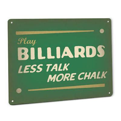 BILLIARDS SIGN Vintage Retro pool hall cue ball chalk shark bar arcade game
