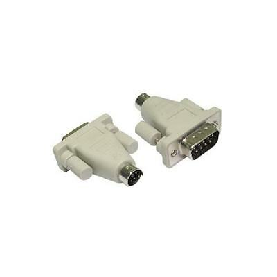 GD126953 9 Pin Stecker auf 6-Pin- Mini-Din- PS / 2 Adapter Konverter 9 Pin Din Stecker