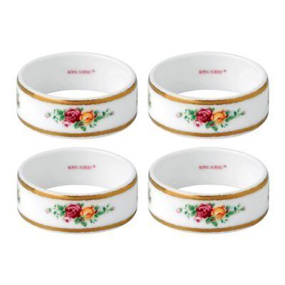 New Royal Albert Old Country Roses Napkin Ring  Set/4