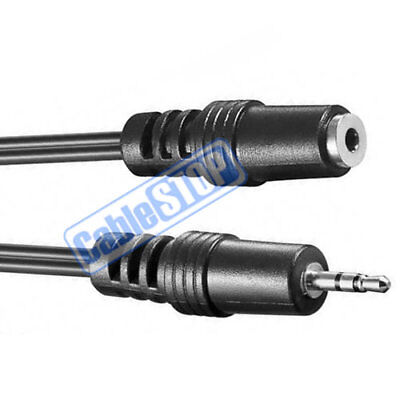 2 METRE 2.5mm Mini Stereo Jack Male to Female Extension Cable Lead 2m