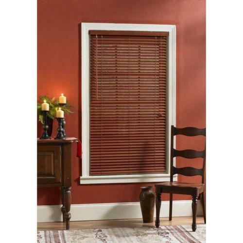 Cherry wood blinds ebay for 2 way window blinds