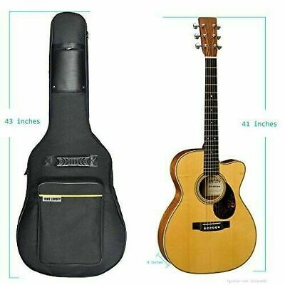 "41"" Acoustic Guitar Case Pocket Padded Gig Soft Fits Most Standard Gift New"