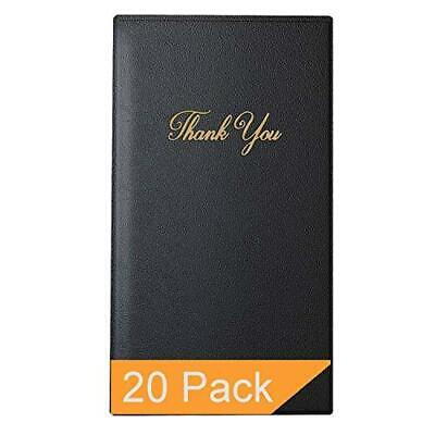 Restaurant Check Presenters - Guest Check Card Holder With Gold Thank You
