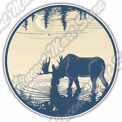 Elk Deer Moose Hunting Hunter Hunt Car Bumper Window Vinyl Sticker Decal 4.6
