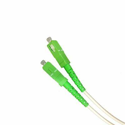 Cable fibra optica SC-APC monomodo simplex 9-125 3 M Blanco