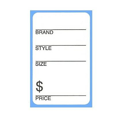 500 Self Adhesive Shoe Labels - Brand Style Size Price Sticker Roll
