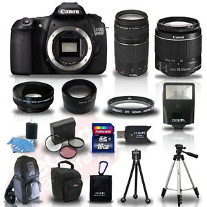 Canon EOS 60D SLR Camera + 4 Lens Kit 18-55 IS +75-300 mm + 16GB TOP VALUE KIT!