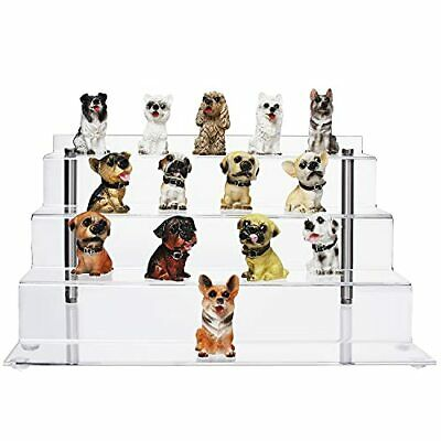 Riser Stand Cecolic Acrylic Display 4 Steps Clear Shelf For Collectibles Amiibo