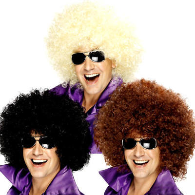 Giant Mega Huge Big Afro Wigs Fancy Dress 1970s Adults Mens Ladies Costume Wigs
