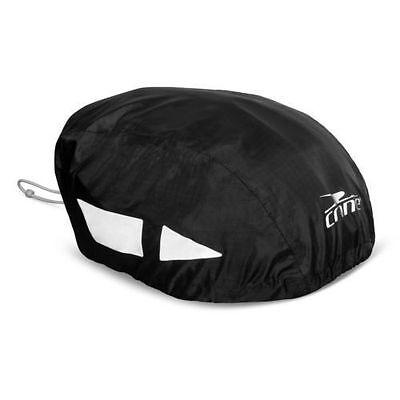 Crane Hi Vis Waterproof Bike Bicycle Cycle Helmet Water Rain BLACK 717 Trendy