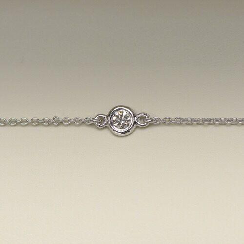 0.80 Ct Diamond By The Yard 4 Stations Bracelet E VVS1 Round Brilliant 14k Gold 5
