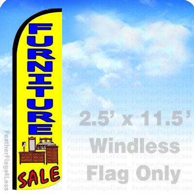 Furniture Sale - Windless Swooper Flag Feather Banner Sign 2.5x11.5 Yz