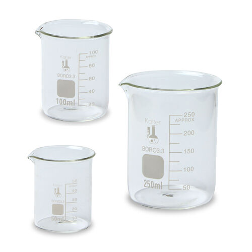 Купить Karter Scientific 214T2 - Glass Beaker Set - 3 Sizes - 50, 100 and 250ml, Karter Scientific 214T2