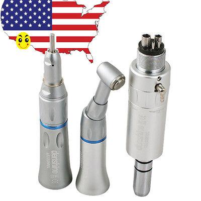 Usa Complete Kit Dental Slow Low Speed Handpiece Push Button 4hole Ex-203c Set
