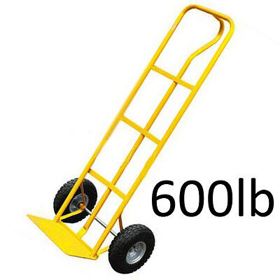 600LB INDUSTRIAL CONSTRUCTION SACK TRUCK HAND TROLLEY WITH PNEUMATIC TYRE WHEELS