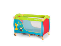 brand new in box hauck travel cot in jungle fun design suitable from birth with bag and mattress