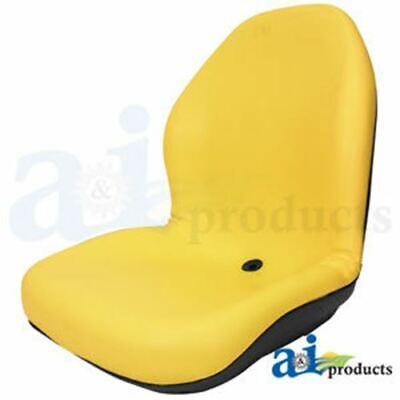 Am107802 Aftermarket Seat Lawn Garden Utv Tractor Skidsteer Yellow Vinyl