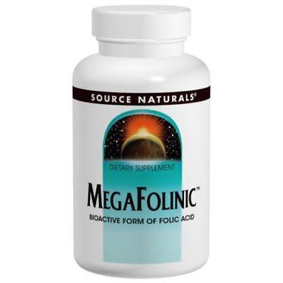 800 Mcg 120 Tabs (2X SOURCE Naturals Megafolinic Folinic Acid 120 tab 800 mcg activated Folic Acid )