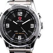 Fashion Stainless Steel Luxury Mens Quartz Wrist Watch Watches