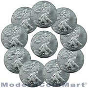 Lot of 10 Silver Eagles