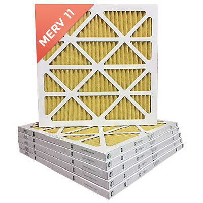 18x18x1 MERV 11 Pleated AC Furnace Air Filter. 6 PACK