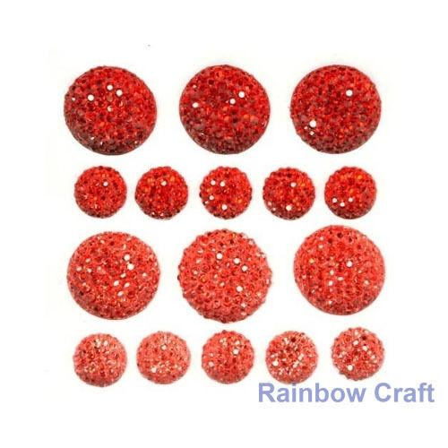 kaisercraft Bling Sparklets / Self Adhesive Rhinestones crystal ebony hearts - Rouge