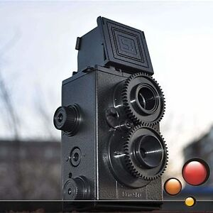 Lomo DIY Recesky Twin Lens Reflex TLR Camera Set Film 135mm Vintage Style Black