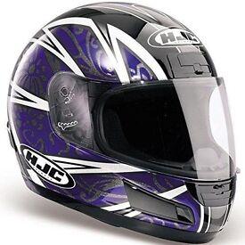 MOTORCYCLE MOTORBIKE CRASH HELMET LID FULL FACE HJC CS12 LOTUS