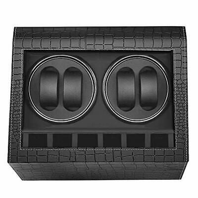 MerLerner Automatic Watch Winder Collector with 4 Watch Winder + 6 Display