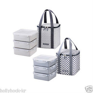 lock lock clover food containers bento lunch box set 3 tier ebay. Black Bedroom Furniture Sets. Home Design Ideas