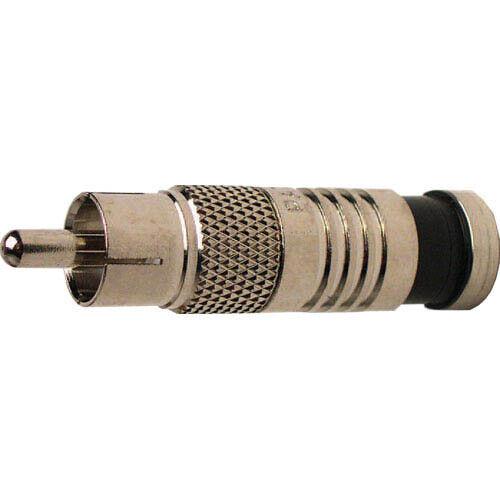 Platinum Tools 18051 RCA RG6 Connectors, Nickel Plate. 25pc/Bag.