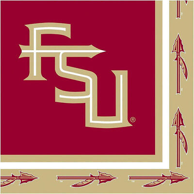 20CT 2-Ply Lunch Napkins Florida State University (Fsu Party Supplies)