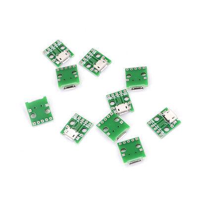 10pcs Micro Usb To Dip Adapter 5pin Female Connector Pcb Converter Diy Kit Nj