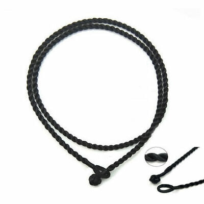 Black Metal-Free Twisted Cord Strand Necklace Men Women Chinese Knot Closure 18