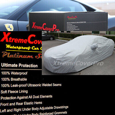 2013 2014 Volvo S80 Waterproof Car Cover w/ Mirror Pocket GREY