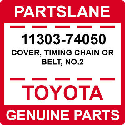 11303-74050 Toyota OEM Genuine COVER, TIMING CHAIN OR BELT, (1996 Toyota Camry Timing Belt Or Chain)