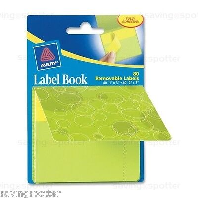 Avery Planner Binder Accessories, Label Book Pad 80 Adhesive