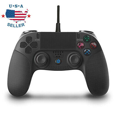 For PlayStation 4 Wired Game Controller Remote Control Gamepad Joypad for PS4 PC