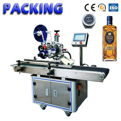 Mt-220 Flat Bottlecan Lid Capping Labeling Machine Self-adhesive Label Sticker