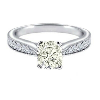 Fancy Yellow Cushion Cut Diamond Engagement Ring 1.94 CT GIA Certified 18k Gold
