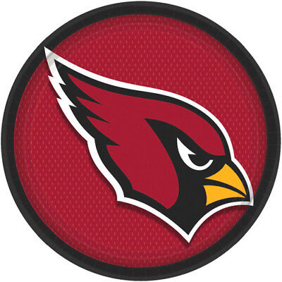 NFL ARIZONA CARDINALS LARGE PAPER PLATES (8) ~ Birthday Party Supplies Dinner](Cardinal Party Supplies)