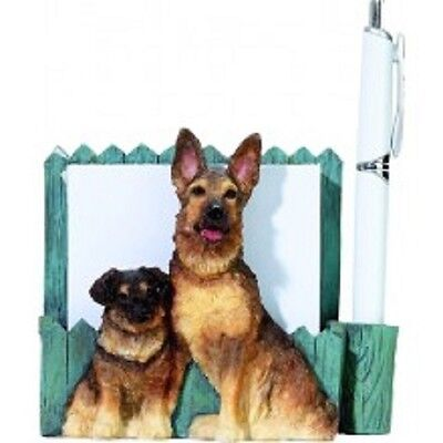german shepherd desk or magnet memo note holder   #75