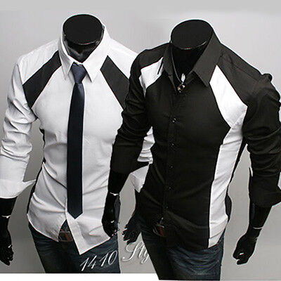 New Mens Casual Luxury Stylish Dress Slim Fit Long Sleeves Shirts ST36